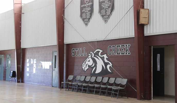 Inside the gym at Still Creek Ranch