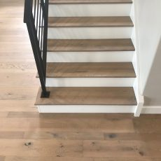Longhouse Plank FloorNose Mödling Staircase <br /> <small>Location: Norman, OK </small><small>Business:  Stonewall Homes  </small><br />