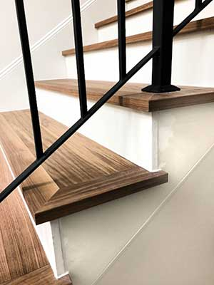 Staircase with FloorNose stair treads