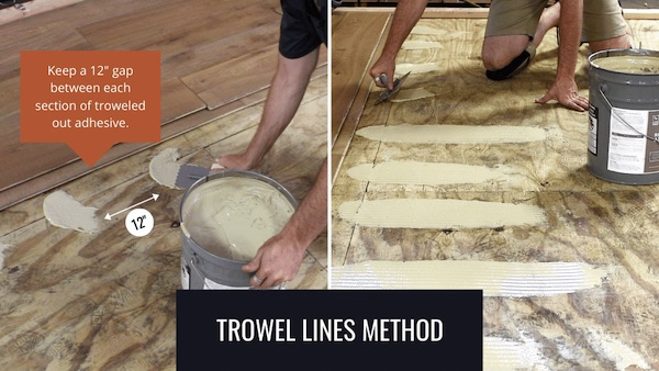 glue and nail wide flooring