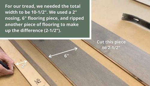 creating a stair tread