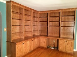 Custom bookshelves and desk