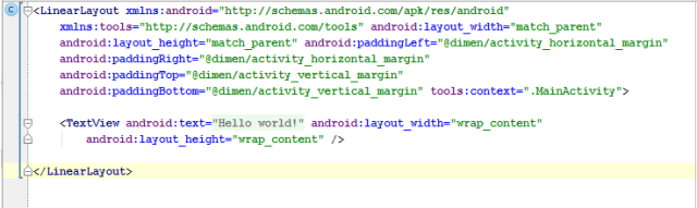 Alt Tag android linear layout