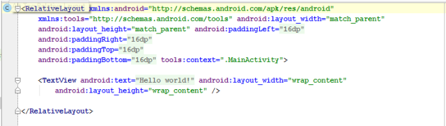 Alt Tag android relative layout