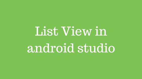 android studio material design listview
