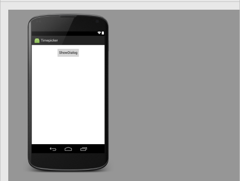 Alt Tag android time picker dialog