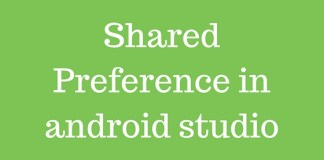 Shared Preference in android studio