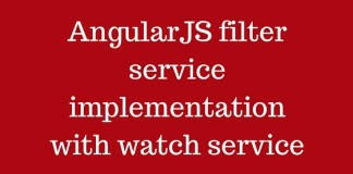 AngularJS filter service implementation with watch service