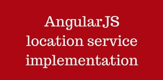 AngularJS location service implementation