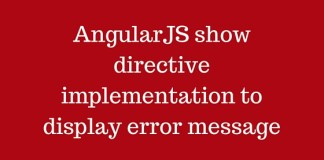 AngularJS show directive implementation to display error message