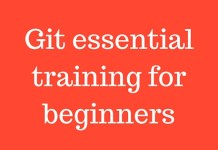 Git essential training for beginners