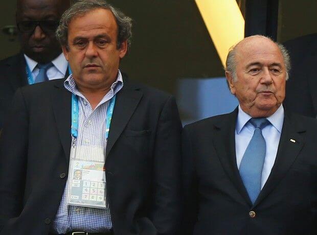 Σεπ Μπλάτερ - Μισέλ Πλατινί, FIFA, UEFA
