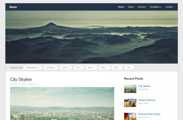 Meeta Free Premium Responsive WordPress Theme 2012