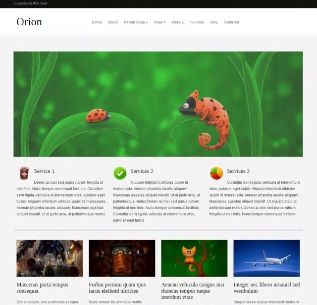 Orion free Premium WordPress Theme 2012