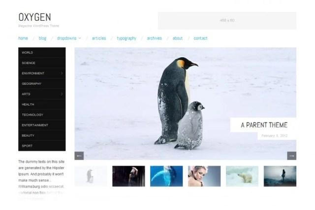 Oxygen, free WordPress theme