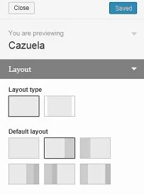 Cazuela WordPress Theme, Page Layouts