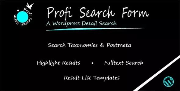 Profi Search Plugin for WordPress