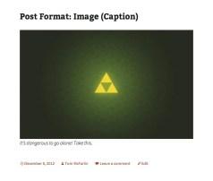Image post format in Twenty Thirteen