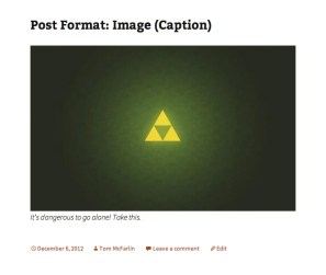 Image post format in Twenty Thirteen