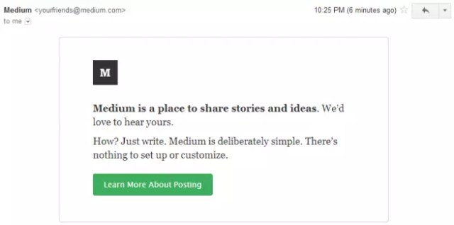 Emails from Medium