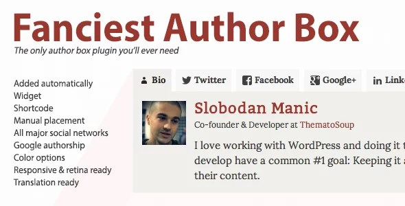 Best author box WordPress plugin