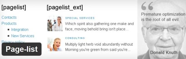 Page-List WordPress Plugin
