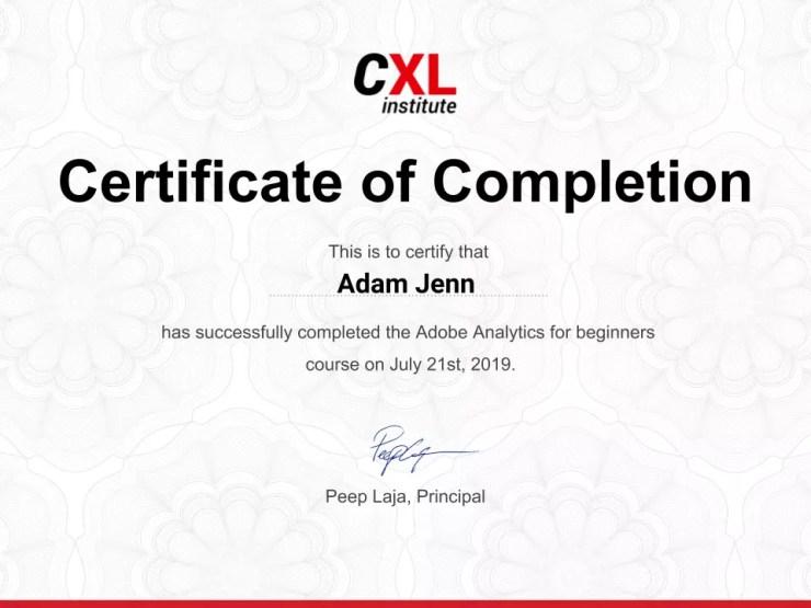 Google Analytics for Beginners CXL Institute