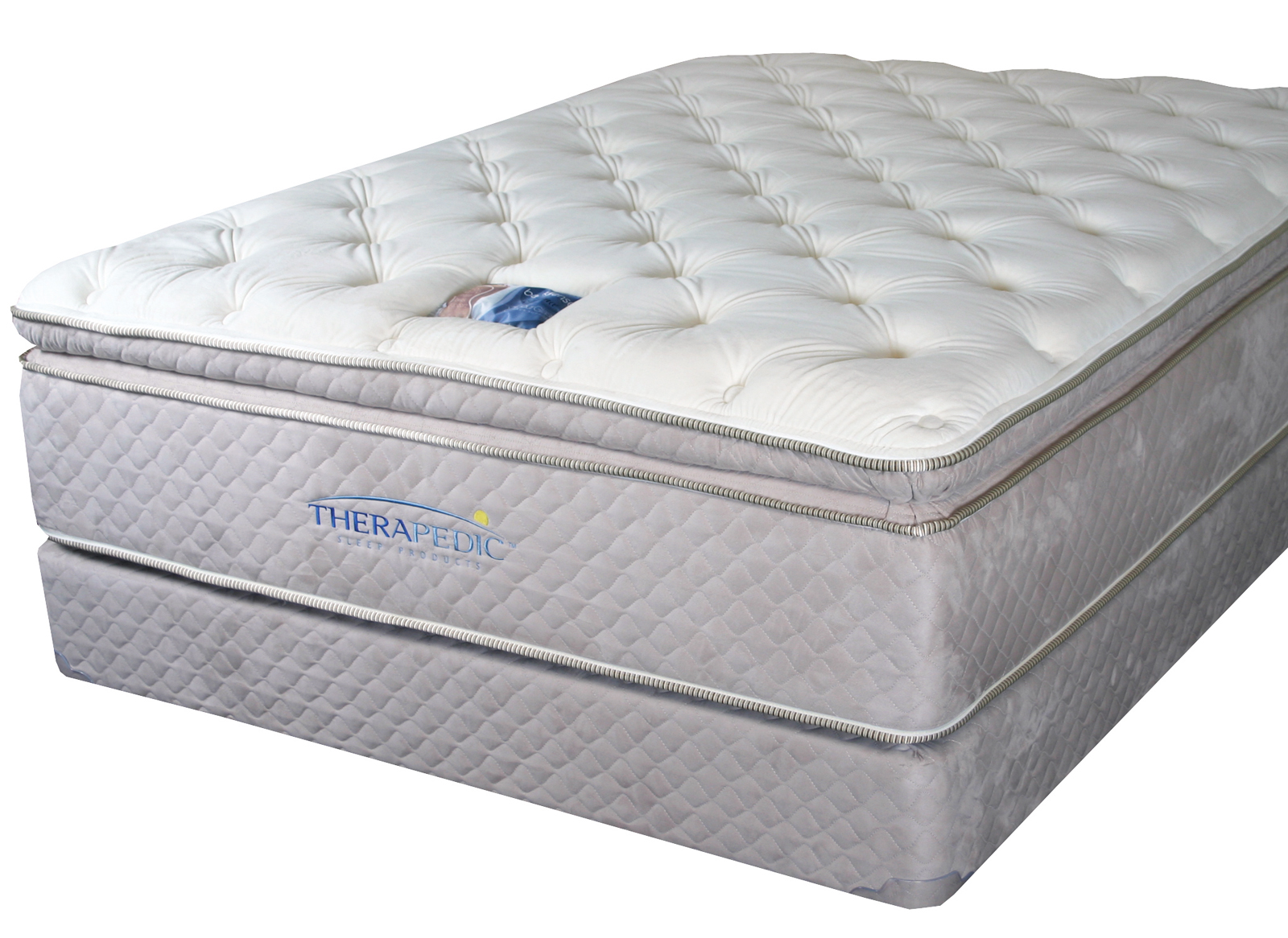 what is a pillow top bed therapedic backsense pillow top