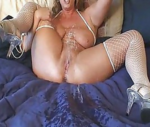 Busty Blonde Milf Finger Bangs Herself And Squirts All Over
