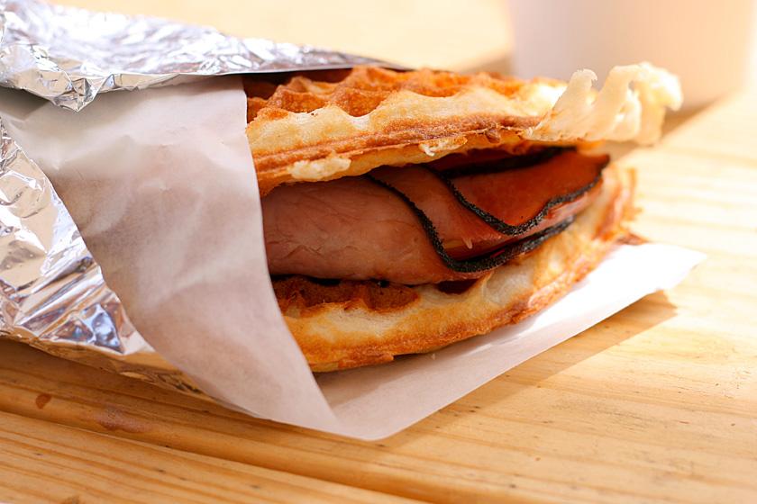 Ham and Cheese Waffle