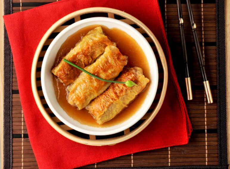 Steamed Tofu Roll