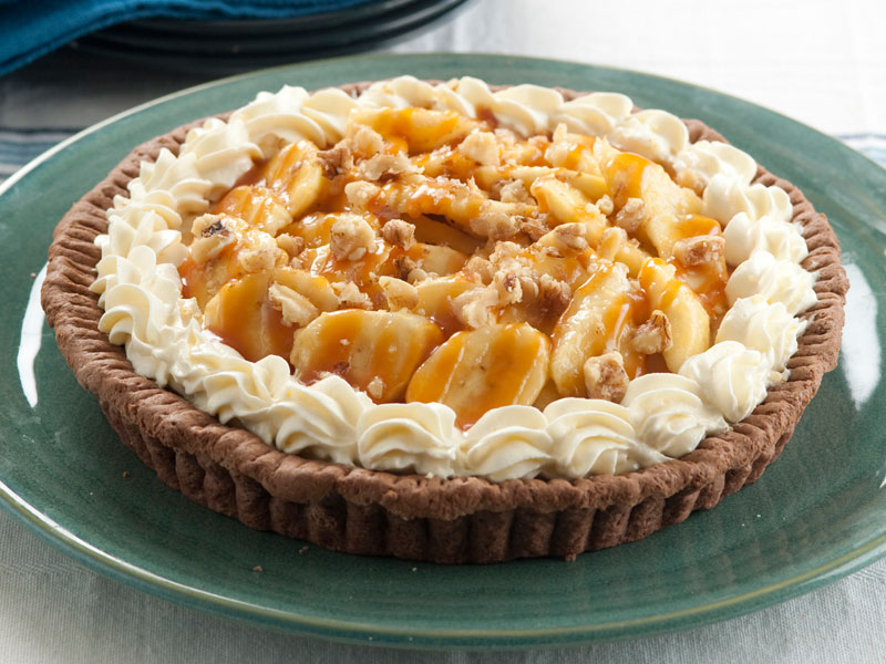 Banana Cream Pie with Caramel Fudge