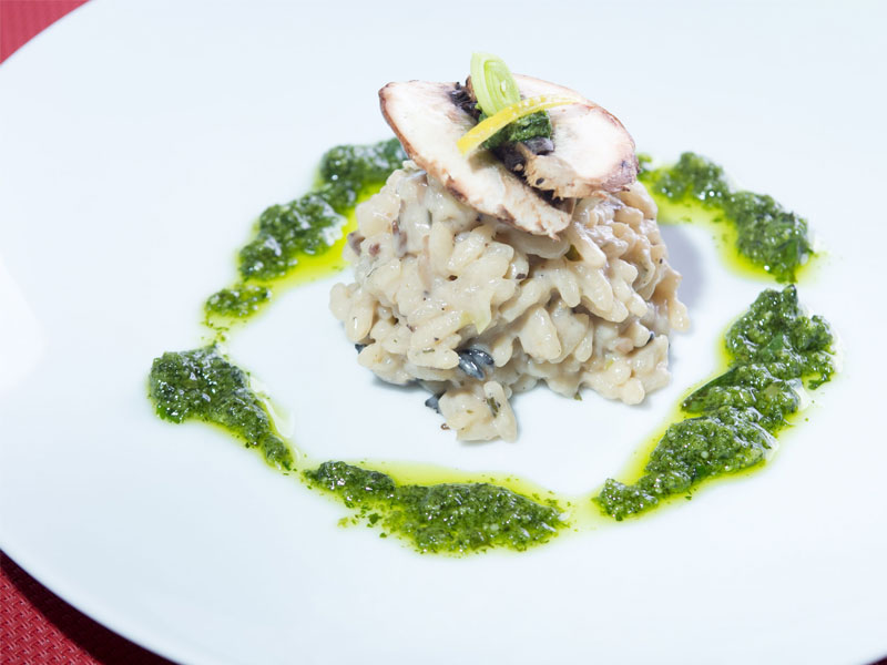 Shiitake Mushroom Risotto with Coriander Pesto | The Maya ...