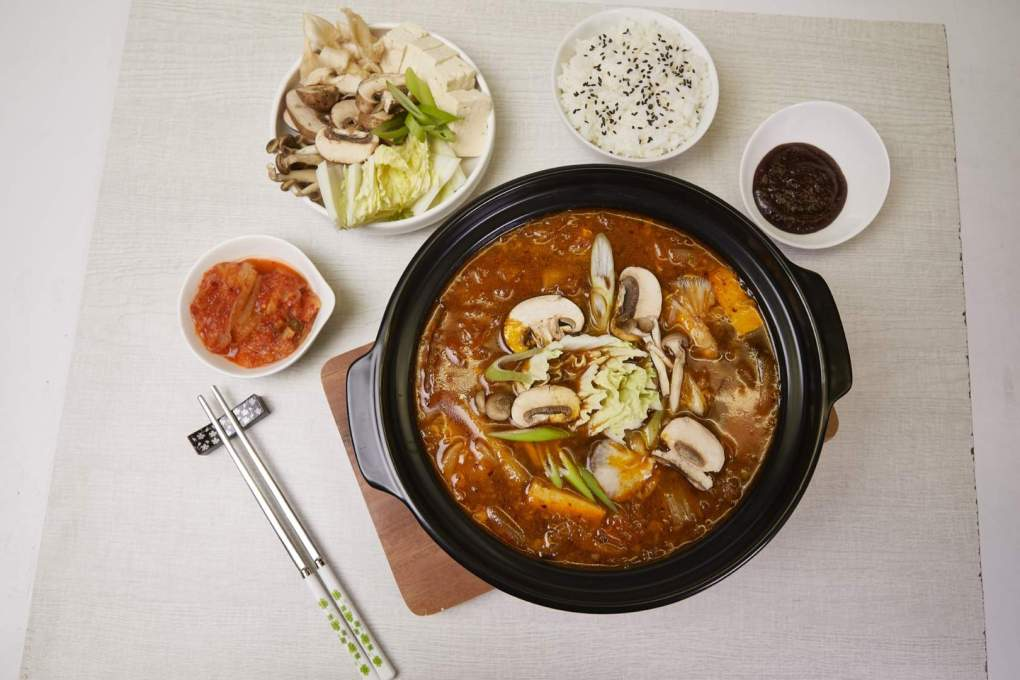 Kimchi Mushroom Stew