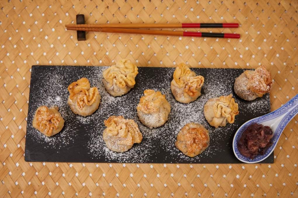 Sweet Red Bean Paste Fried Pouch Dumplings