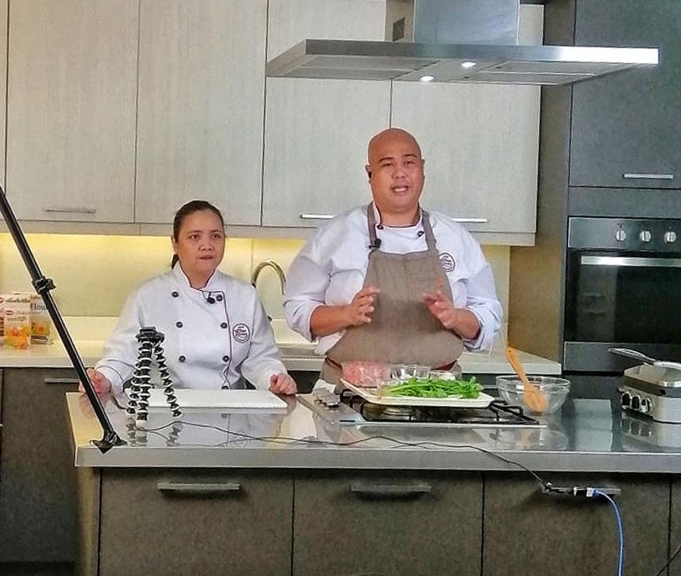 Chef Charina Cano and Dan Libunao
