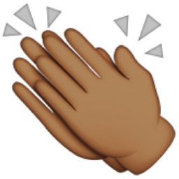 deeper-brown-clapping-hands-sign