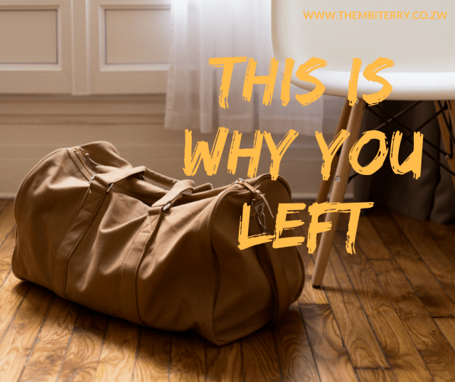 This is why you left