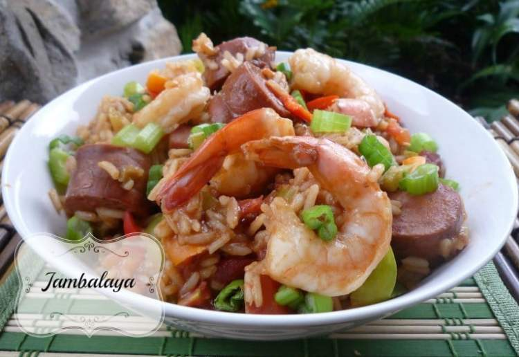 """This amazing recipe for """"Easy Jambalaya"""" is so Flavorful, simple, and easy it's almost seriously ridiculous.It's not the 100% traditional recipe for Jambalaya standards by far.I combine ALL the traditional ingredients you love and a few more. This comes out with a fantastic thick spicy sauce that just clings to your rice like you won't believe."""