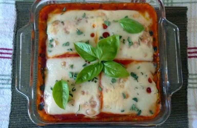 Zucchini Bake with Sausage and Ricotta