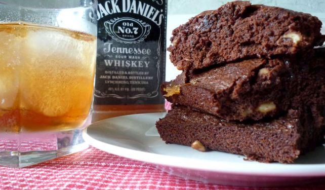Jack Daniel's Pecan #Caramel #Fudge #Brownies