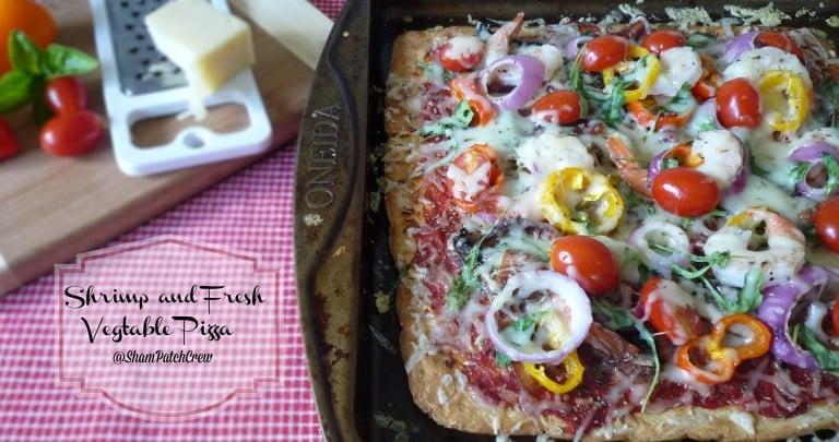 Easy Shrimp and Fresh Vegetable Pizza
