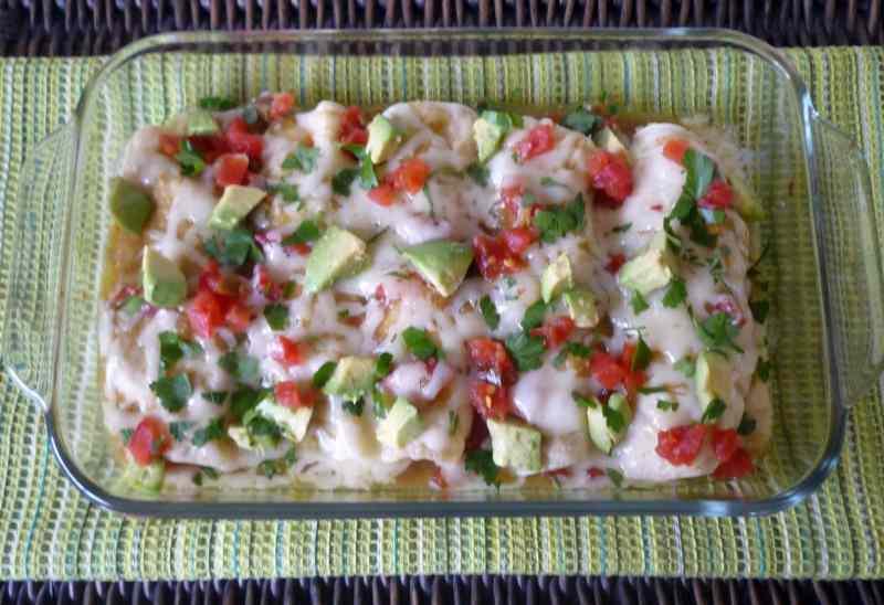 #Chicken #Enchiladas with #Verde Sauce