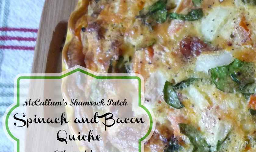 Spinach & Bacon Quiche with Jalapenos
