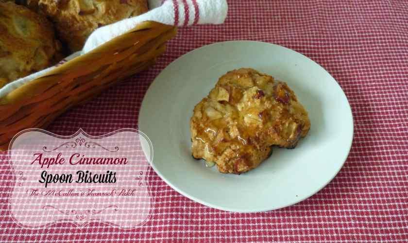 Apple Cinnamon Spoon Biscuits