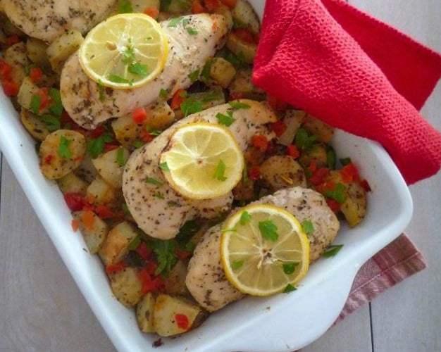 Mediterranean Chicken and Potatoes
