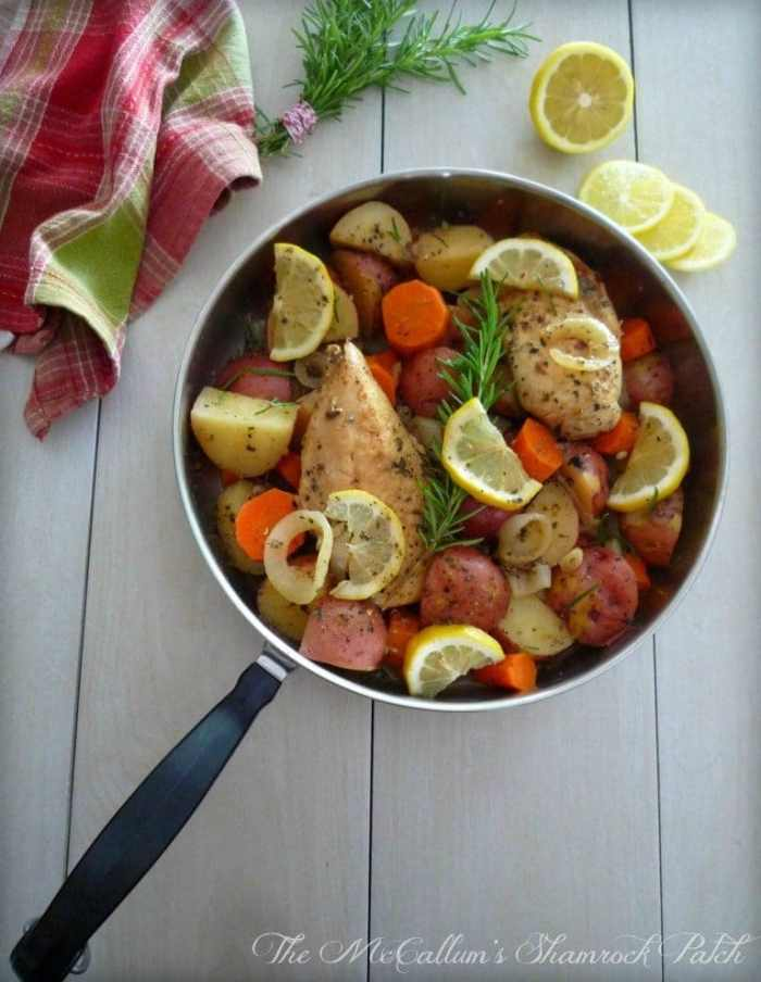 one pot Lemon Rosemary Chicken and Potatoes