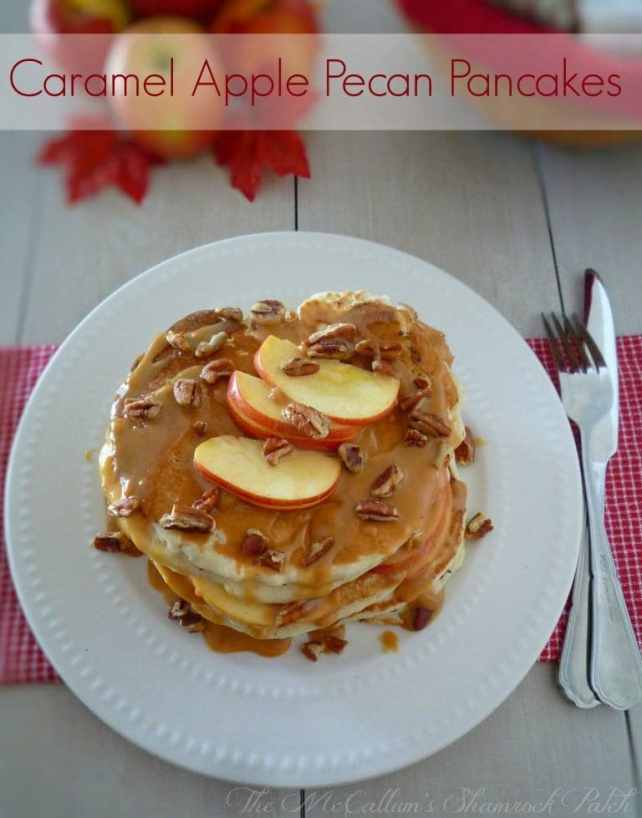 #CarmamelApple #Pecan #Pancakes #FallRecipes