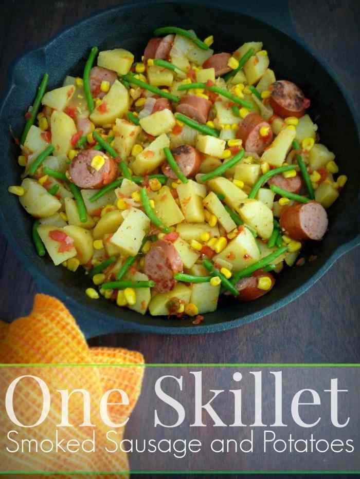 #Oneskillet #Kielbasa, Green #Beans & #Potatoes