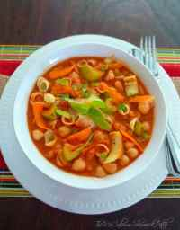 Pasta e Fagioli is a perfectly warm, comforting, and cost efficient recipe that has a wonderful combination of deliciously simple and filling ingredients such as San Marzano tomatoes, cannellini beans, celery, pasta, minced garlic, among other fragrant spices to make a perfect meatless meal on a cold Fall evening.